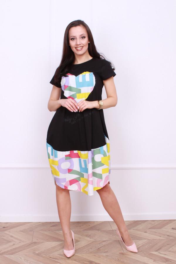 Sukienka z nadrukami 1