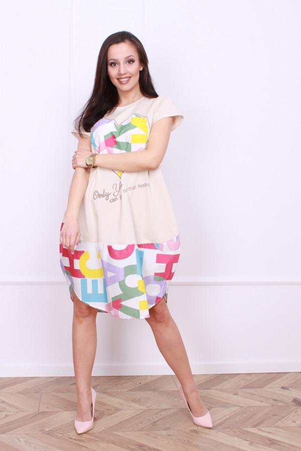 Sukienka z nadrukami 2