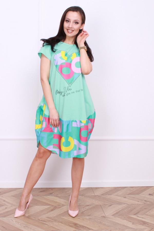Sukienka z nadrukami 4
