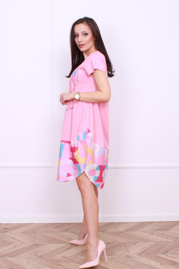 Sukienka z nadrukami 5