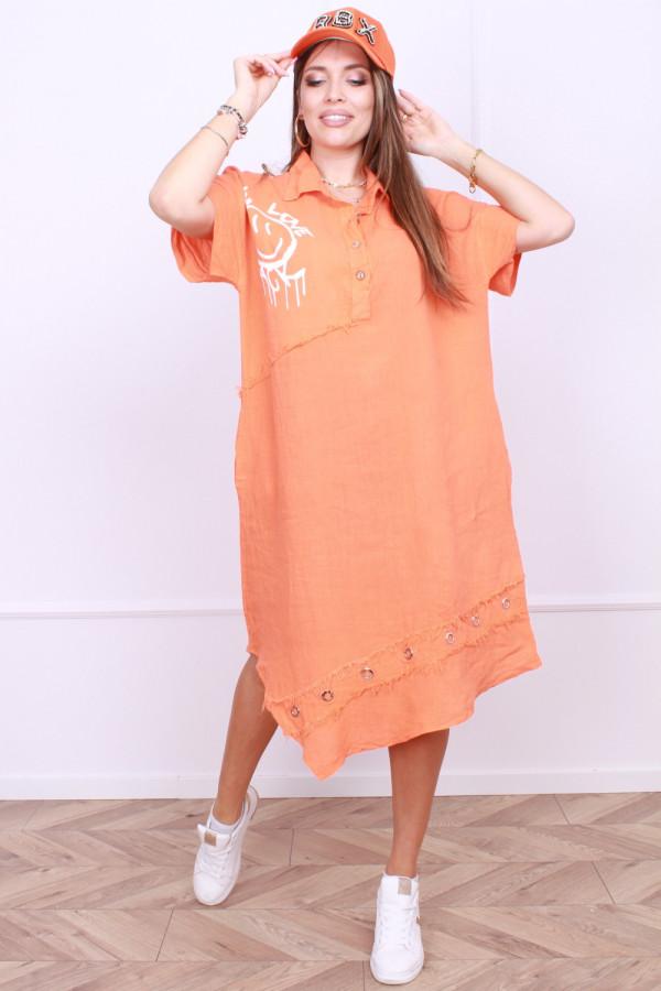 Sukienka z rozpinanym kołnierzykiem 7