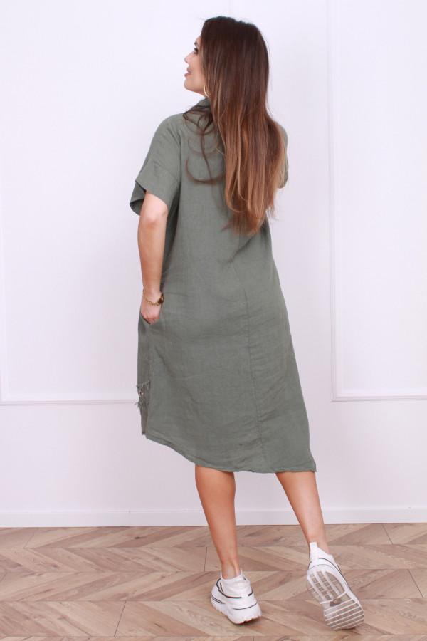 Sukienka z rozpinanym kołnierzykiem 2