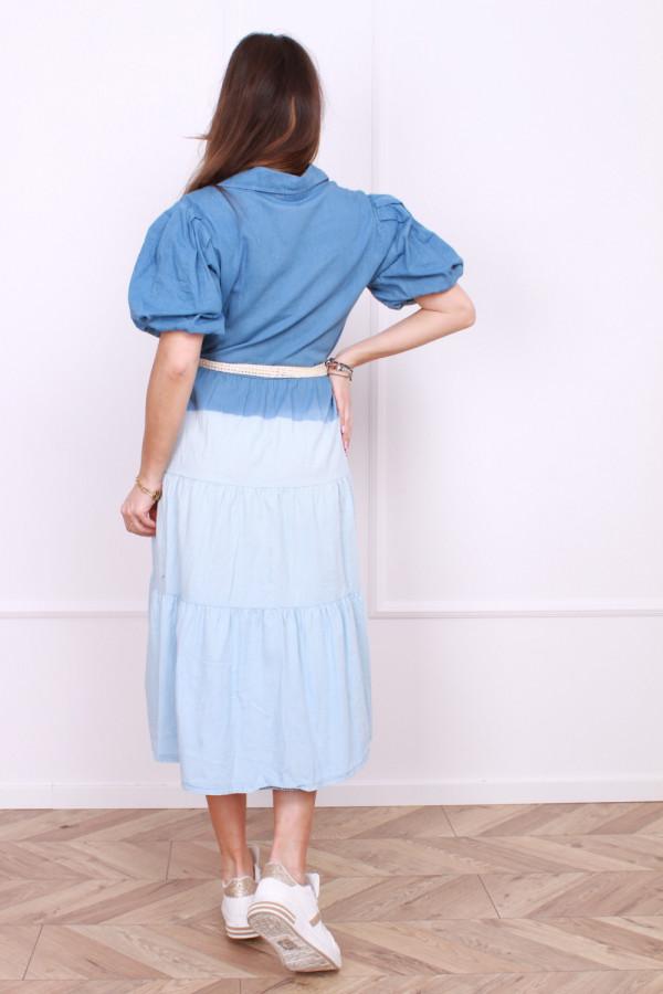 Dwukolorowa rozpinana sukienka 2