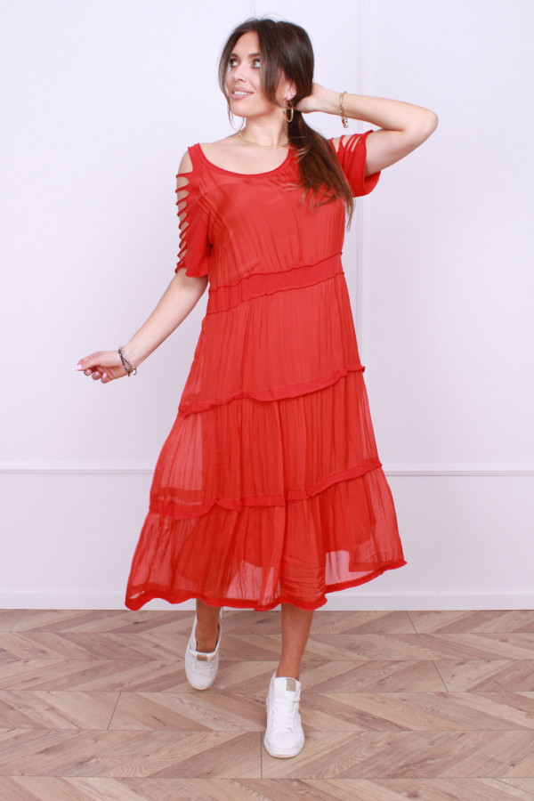 Sukienka z falbanami 4