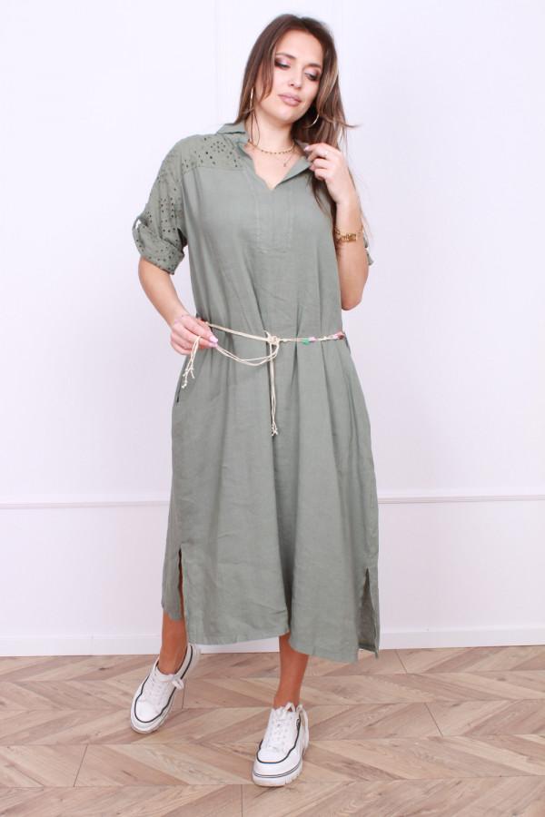 Sukienka z haftowaną górą 3