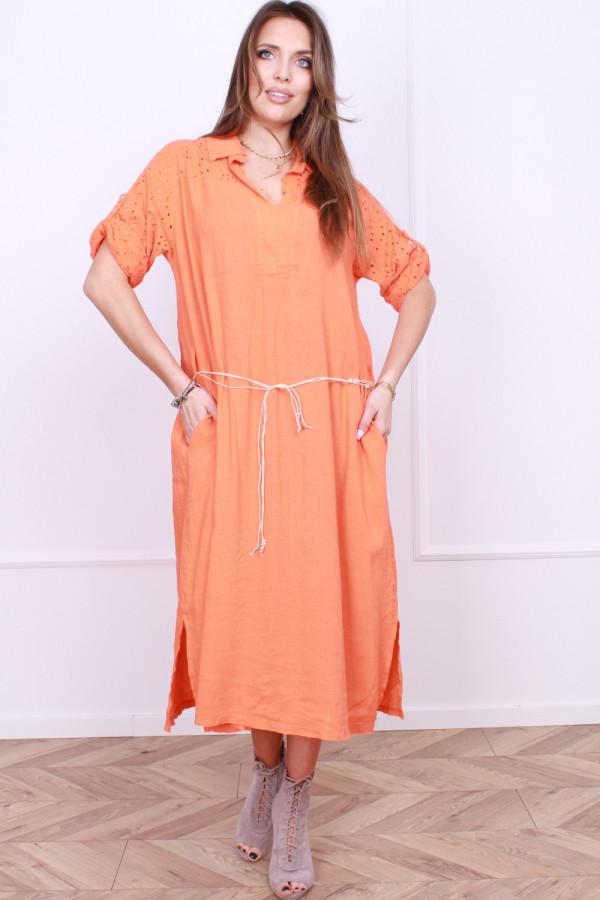 Sukienka z haftowaną górą 4