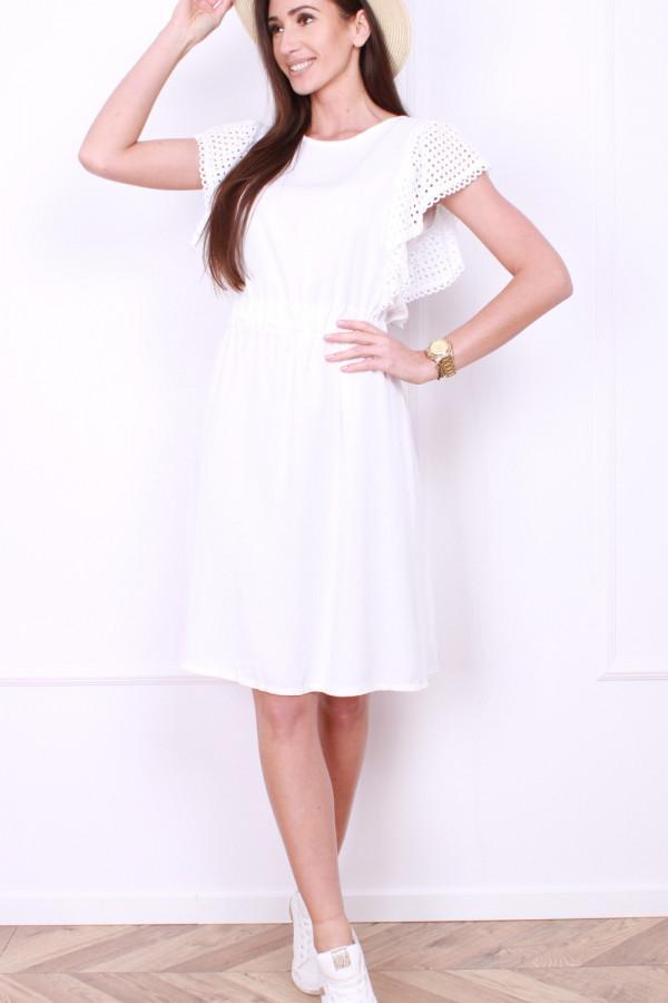 Sukienka z haftowanymi rękawami 4
