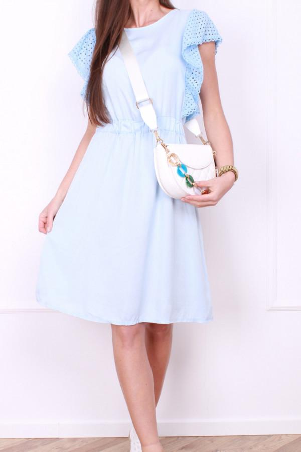 Sukienka z haftowanymi rękawami 5