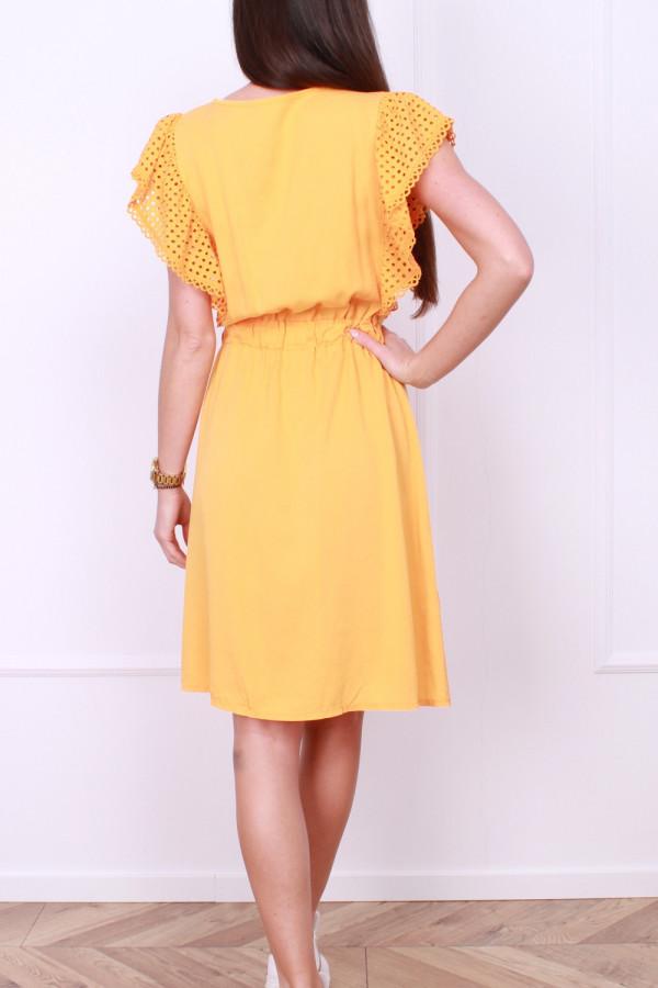Sukienka z haftowanymi rękawami 2