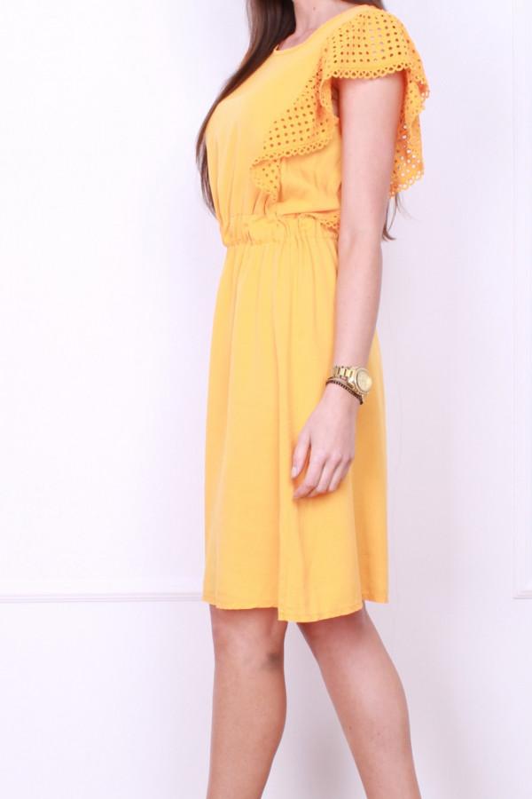 Sukienka z haftowanymi rękawami 1