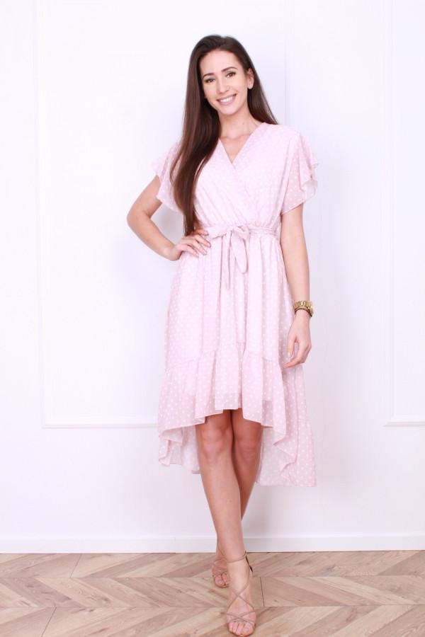 Sukienka w małe grochy
