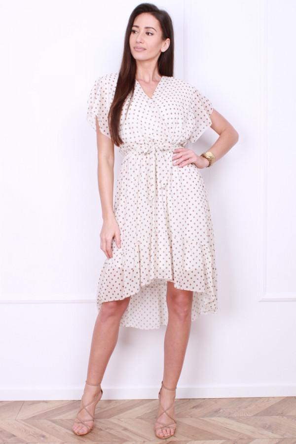 Sukienka w małe grochy 4