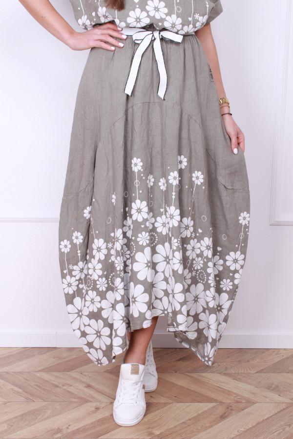 Spódnica z kwiatami 7
