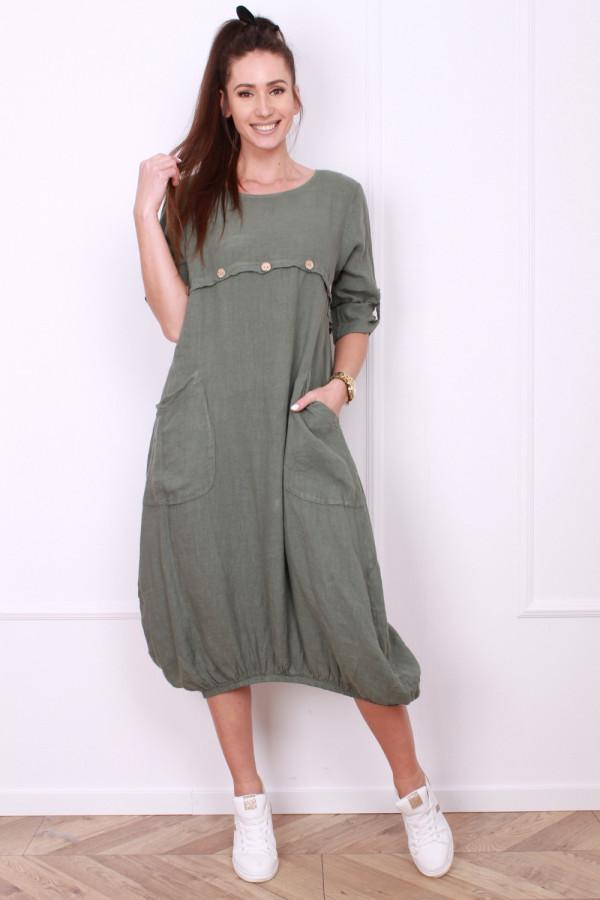 Sukienka z kieszeniami 4
