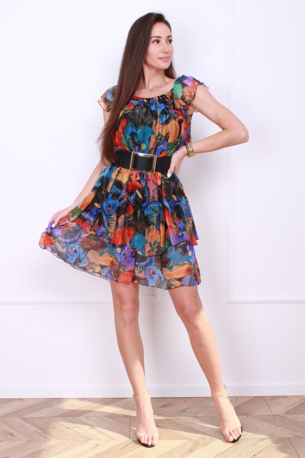 Sukienka mini w kwiaty 3
