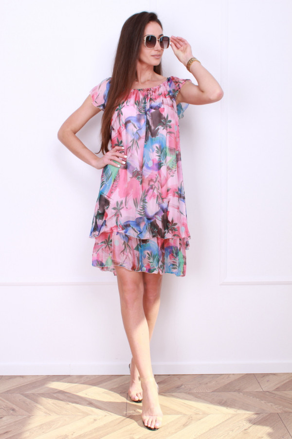 Sukienka mini w kwiaty 5