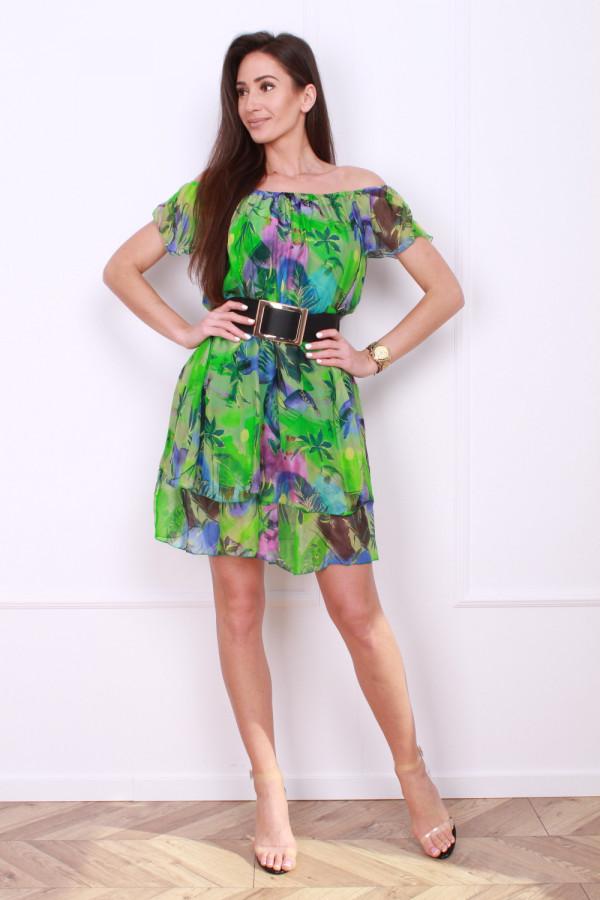 Sukienka mini w kwiaty 4