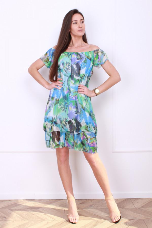 Sukienka mini w kwiaty 6