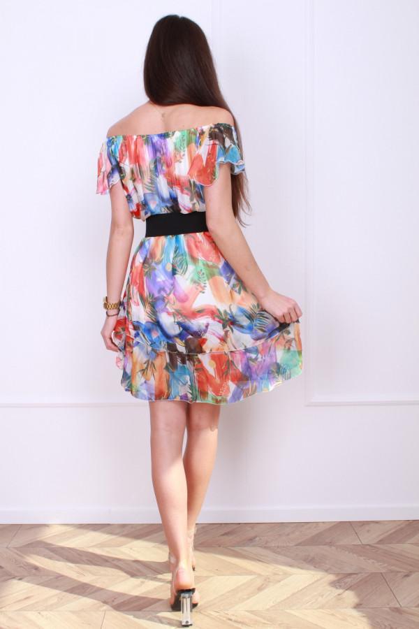 Sukienka mini w kwiaty 2