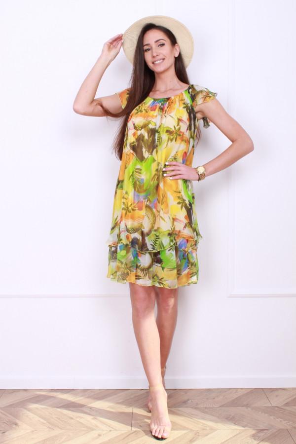 Sukienka mini w kwiaty 7