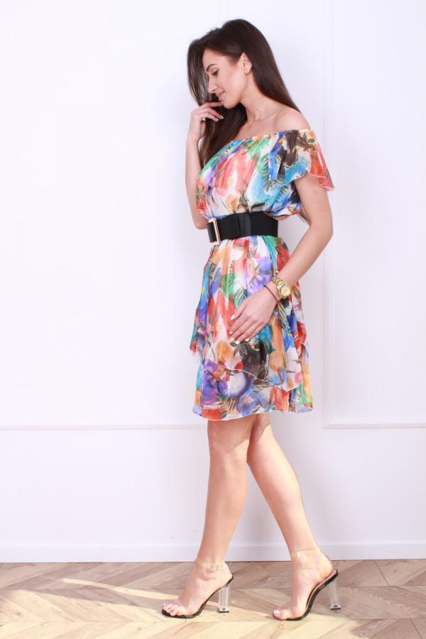 Sukienka mini w kwiaty 1