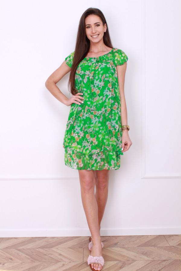Sukienka mini w kwiatki