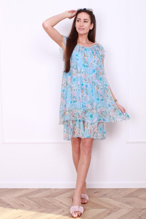 Sukienka mini w kwiatki 4