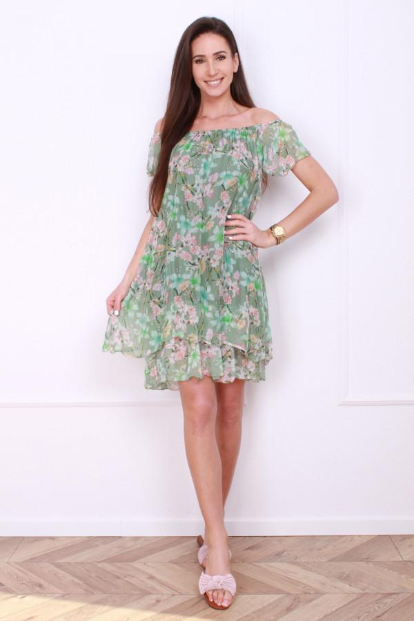 Sukienka mini w kwiatki 3
