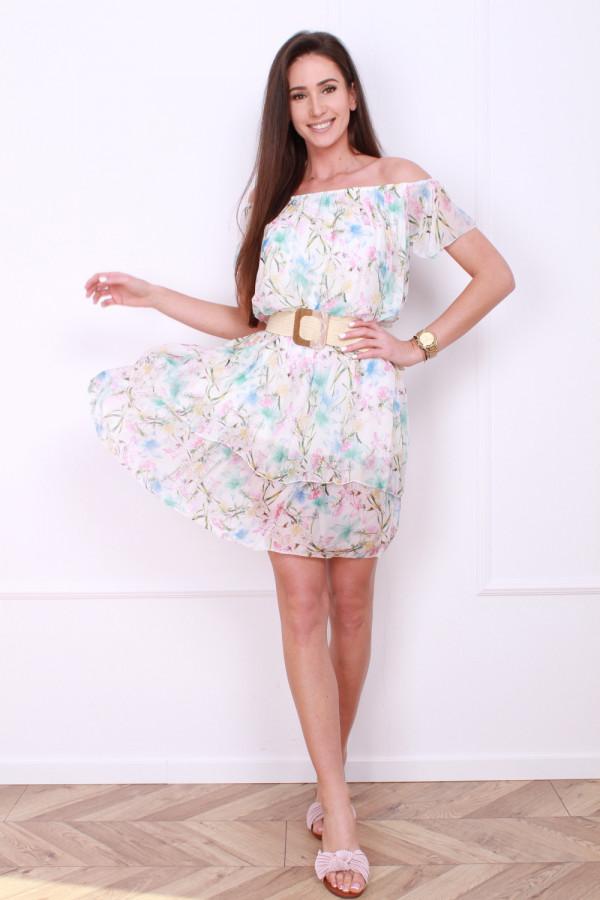 Sukienka mini w kwiatki 6
