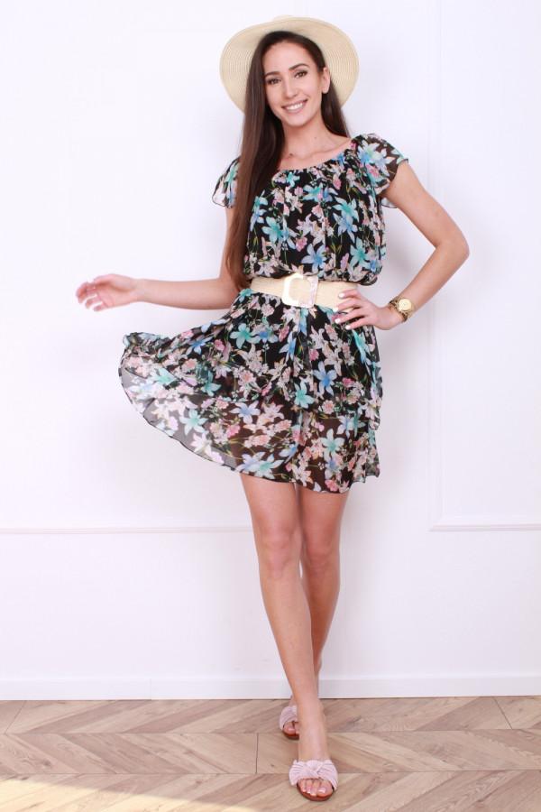 Sukienka mini w kwiatki 5
