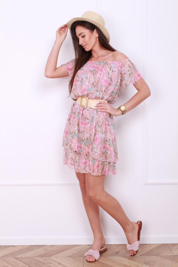 Sukienka mini w kwiatki 7