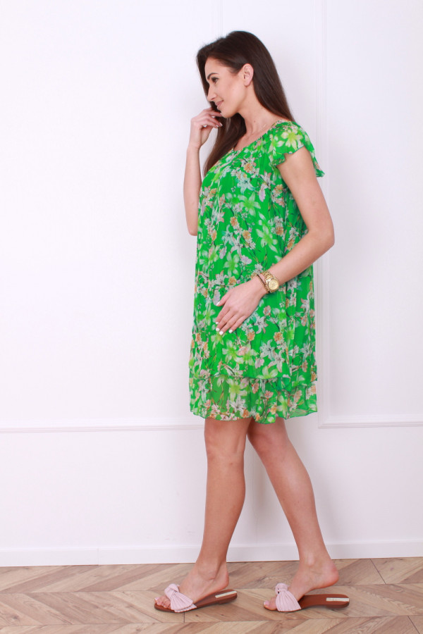 Sukienka mini w kwiatki 1