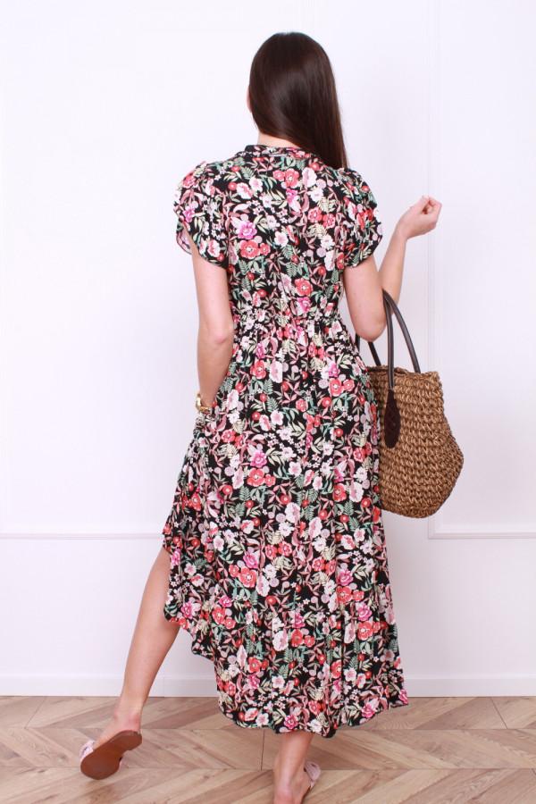 Sukienka długa w kwiaty 2