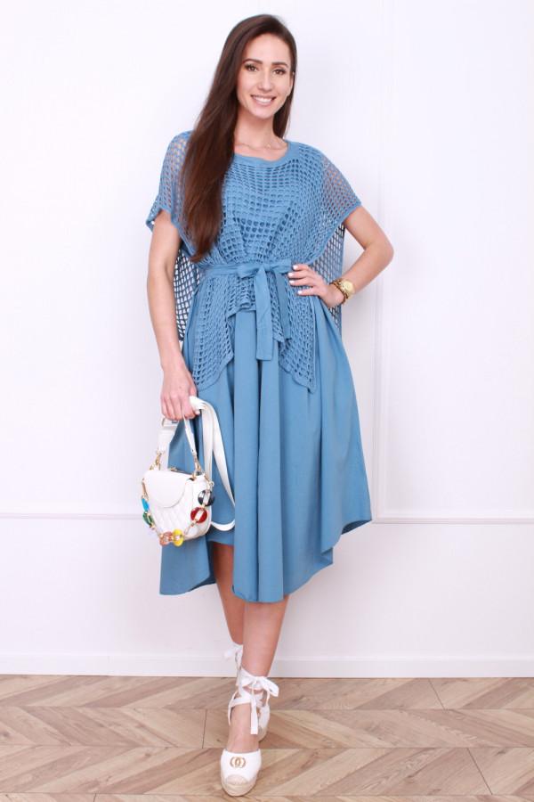 Sukienka z ażurowym bolerkiem
