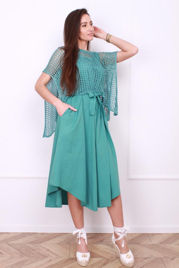 Sukienka z ażurowym bolerkiem 5