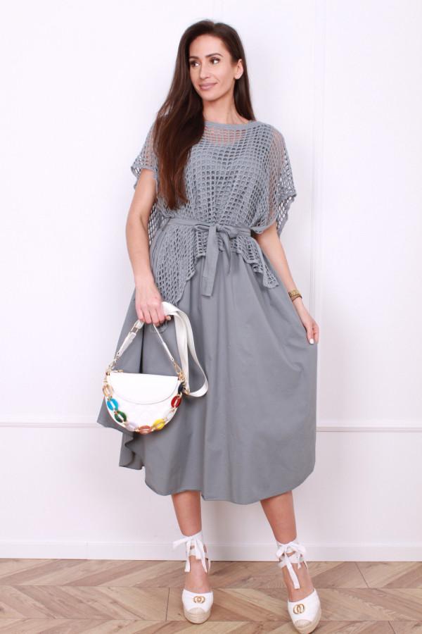 Sukienka z ażurowym bolerkiem 4