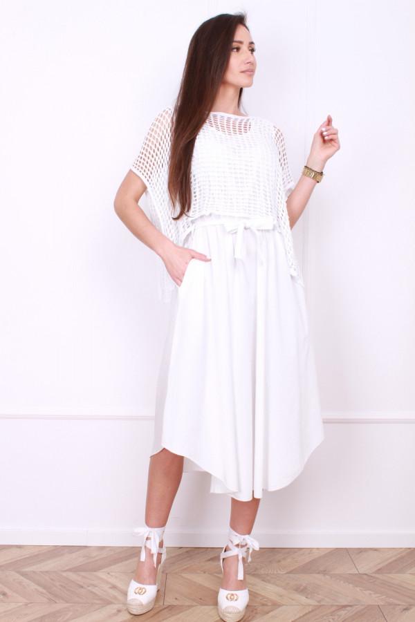 Sukienka z ażurowym bolerkiem 6