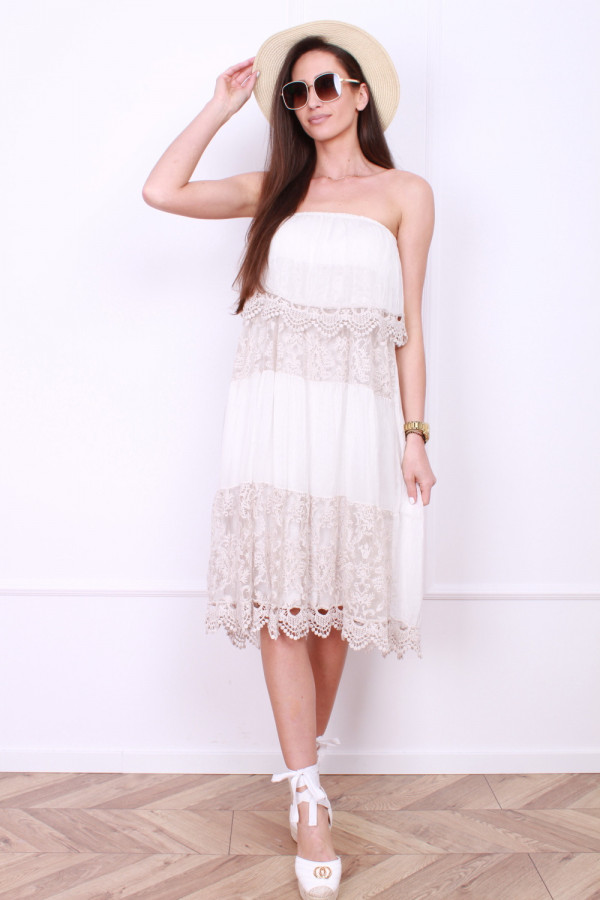 Sukienka bez ramion 3