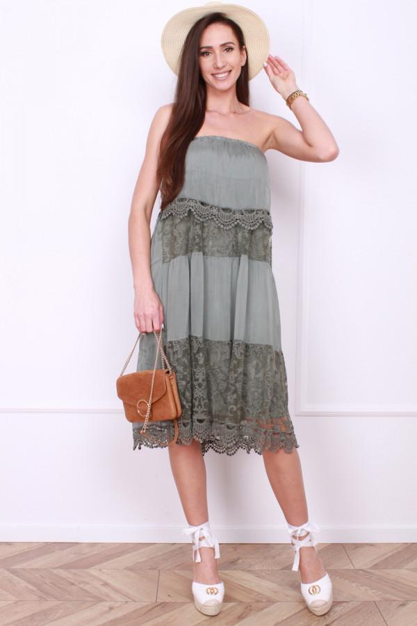Sukienka bez ramion 5