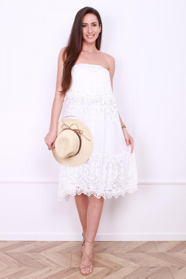 Sukienka bez ramion 6