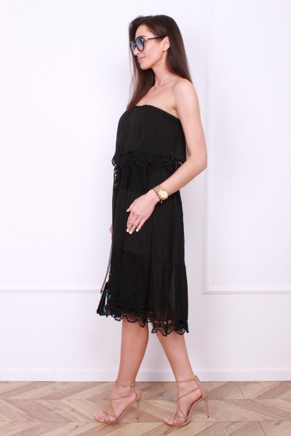 Sukienka bez ramion 1
