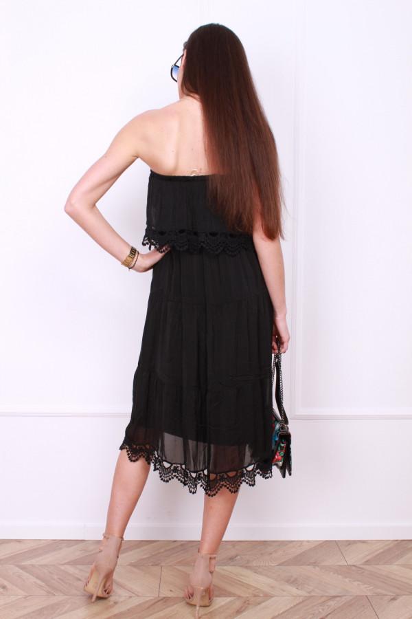 Sukienka bez ramion 2