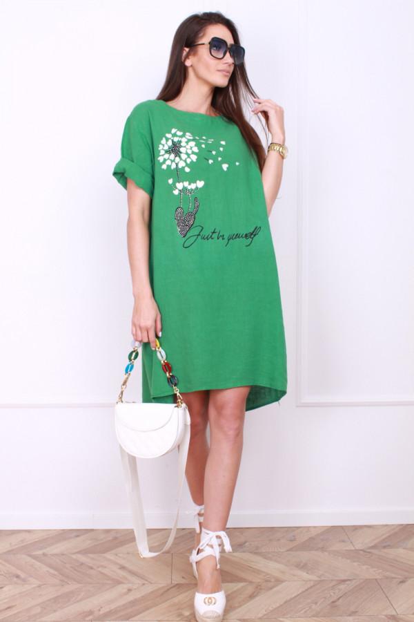 Sukienka z kwiatowym motywem 4