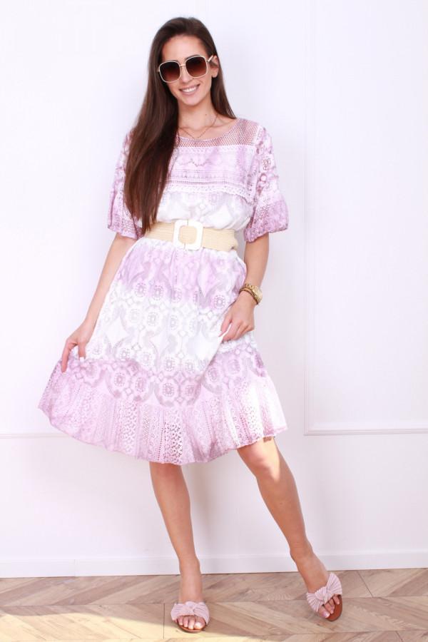 Sukienka dwukolorowa 3