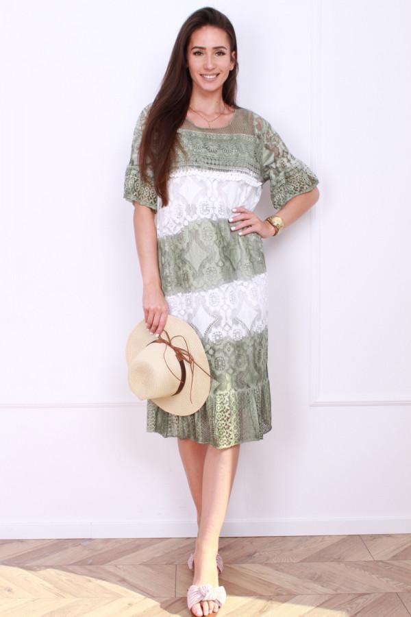 Sukienka dwukolorowa 4