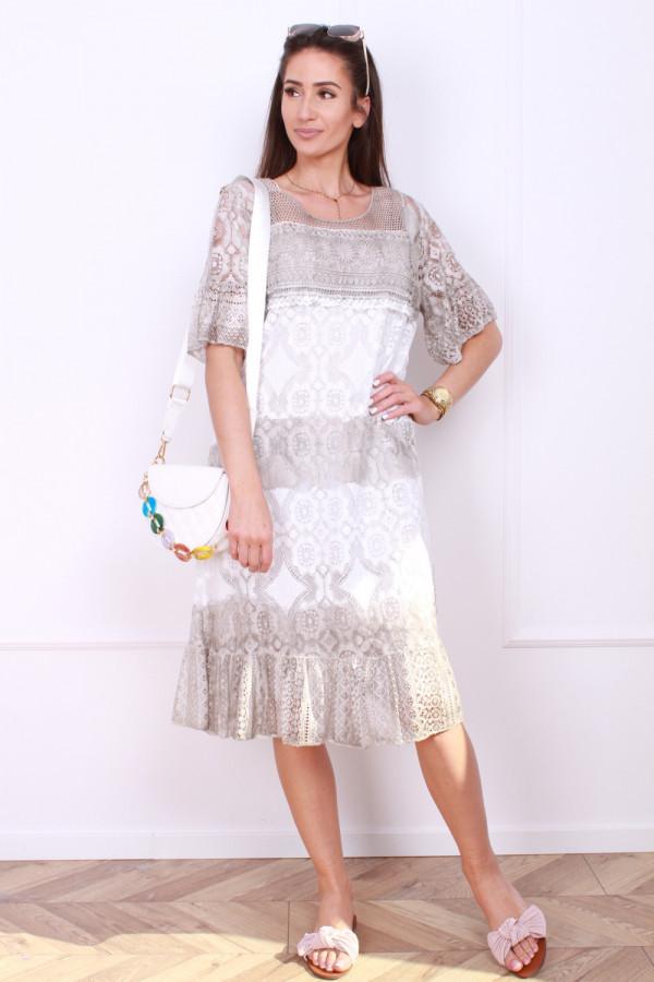 Sukienka dwukolorowa 6