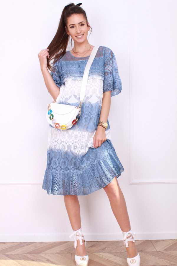 Sukienka dwukolorowa 8