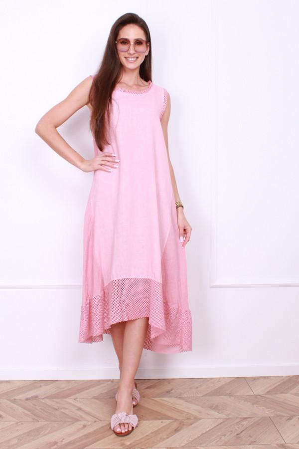 Sukienka lniana długa