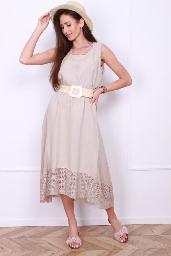 Sukienka lniana długa 3