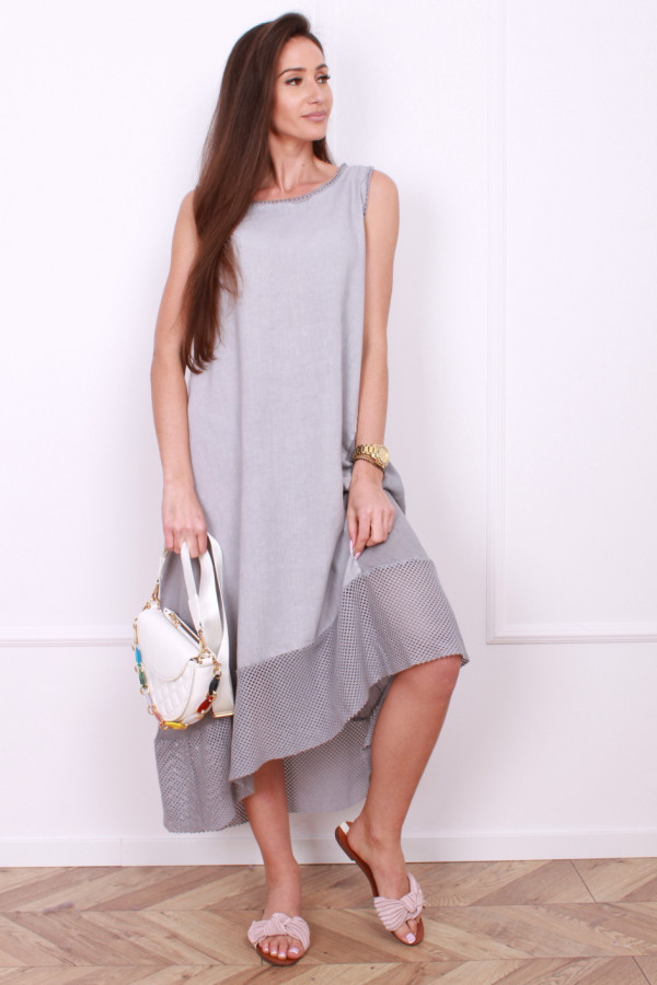 Sukienka lniana długa 5